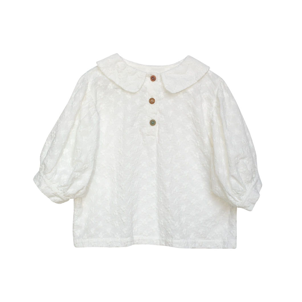 Yellow Pelota Magaret Blouse - White 4Y, 6Y