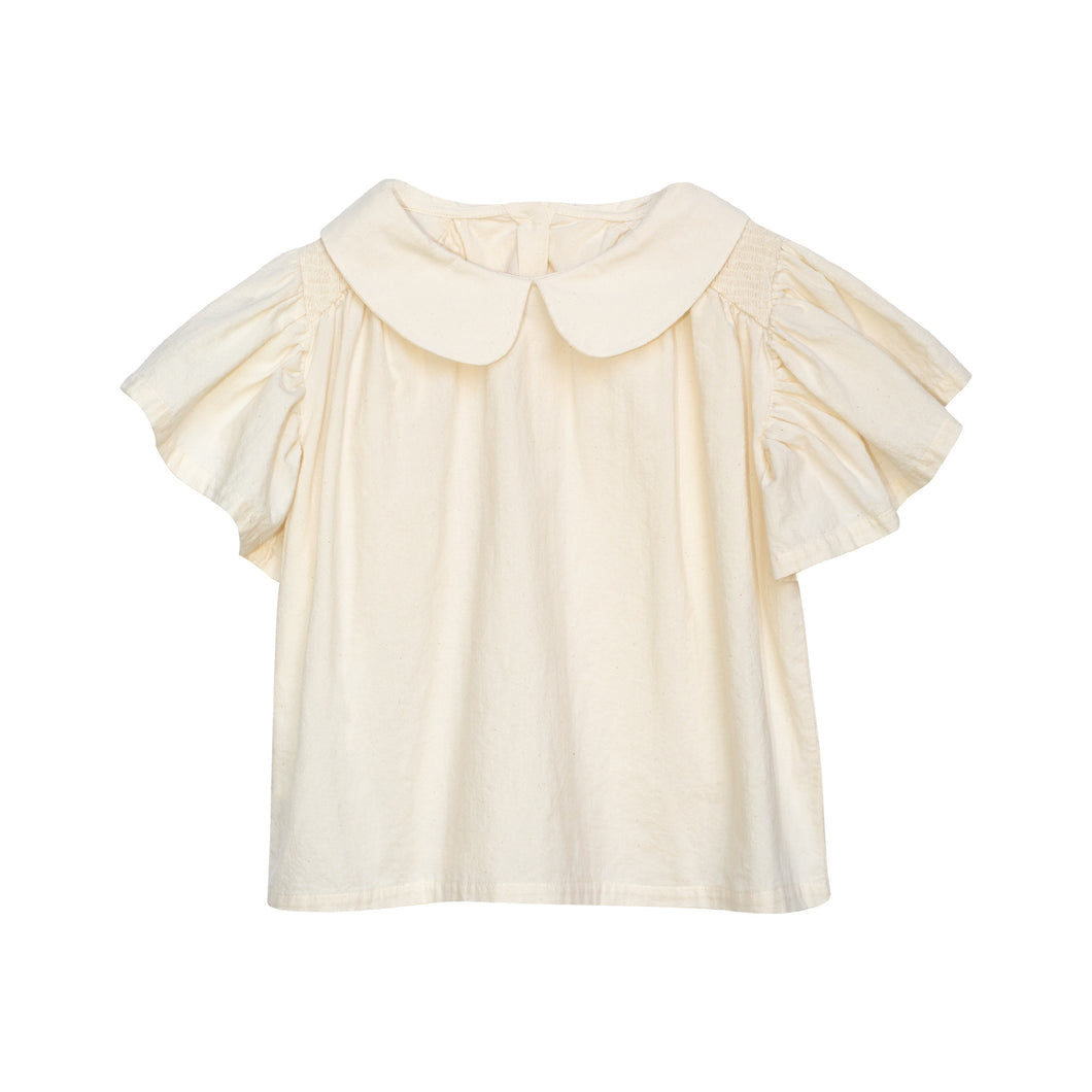 Yellow Pelota Bees Blouse - Natural 2Y, 4Y