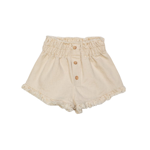 Yellow Pelota Mary Jane Short - Natural Last One 6Y