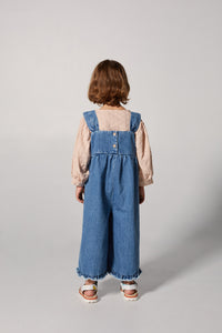 Yellow Pelota Clash Dungaree - Washed Denim Last One 4Y