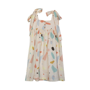 Yellow Pelota Filippa Terrazo Dress 4Y, 6Y