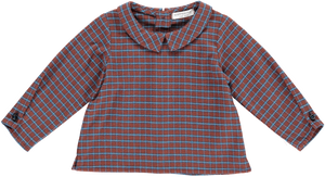 Happyology Shelby Baby Top - Burgundy Check 6-12M, 12-18M, 18-24M