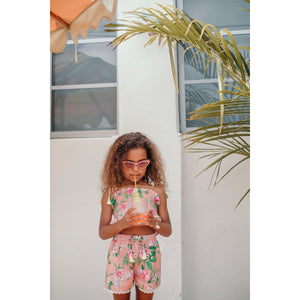 Louise Misha Top Miami - Sienna Flamingo