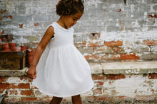 Load image into Gallery viewer, Little Cotton Clothes Celeste Dress - Off White Double Gauze Muslin