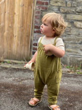 Load image into Gallery viewer, Mabli Caswell Knitted Cotton/Linen Short Sleeve Top - Sand - 12M,4Y