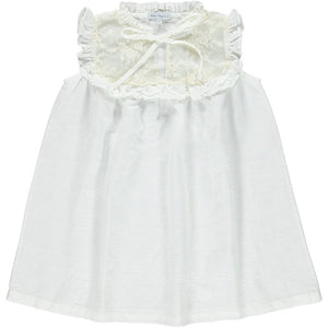 Bebe Organic Milja Dress -Natural White 3Y, 4Y