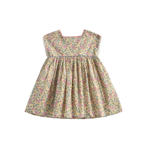 Louise Misha Dress Tapalpa - Lemon Flower -3Y Last one