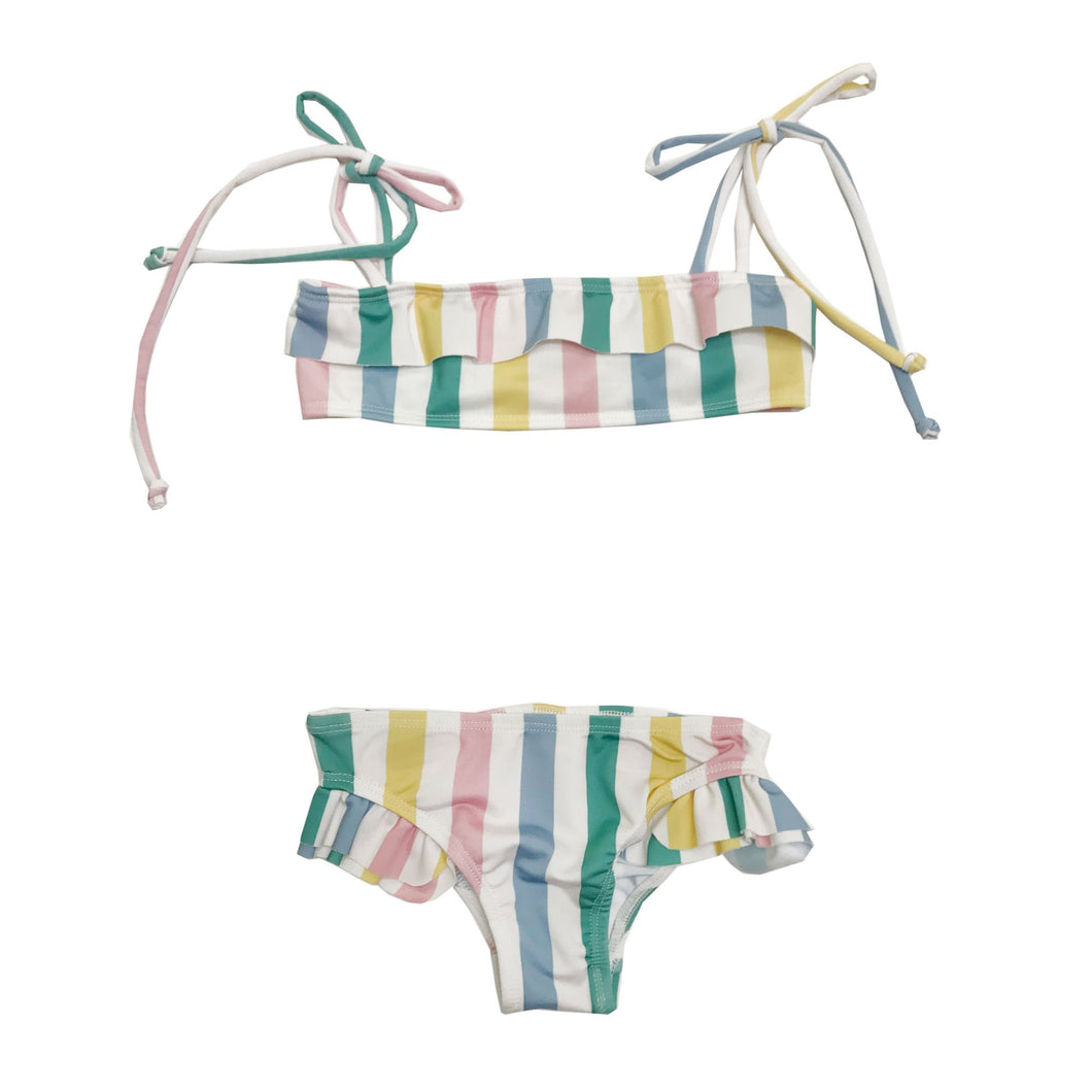 Hugo Loves Tiki Ruffled Bikini - Pastel 4T, 6T