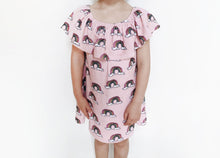 Load image into Gallery viewer, Hugo Loves TIki Terry Ruffled Dress - Pink Rainbow 12-18M, 2T, 4T