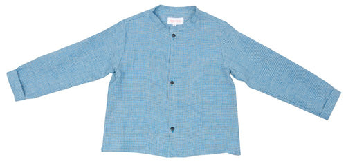 Frou Frou Max Shirt - Blue Check