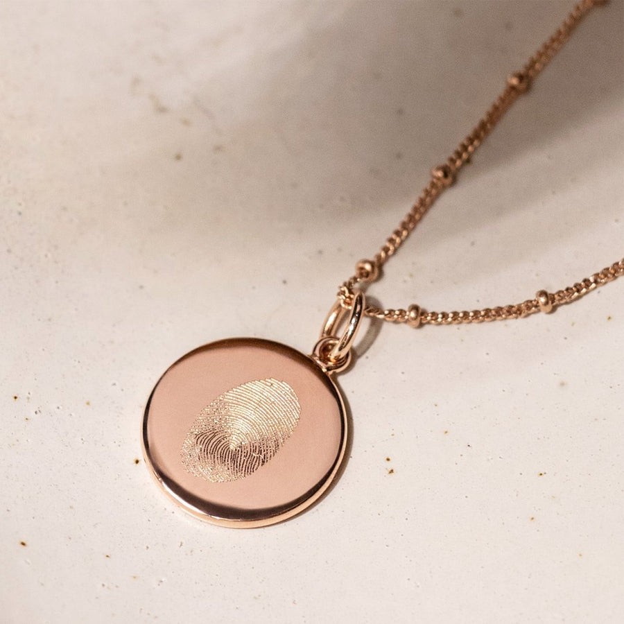 The Double Sided Classic / Diamond Chain / 18k Rose Gold Vermeil - Deja Marc Jewellery