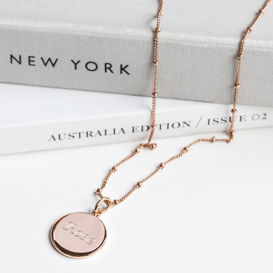 The Duo / Bobble Chain / 18k Rose Gold Vermeil - Deja Marc Jewellery
