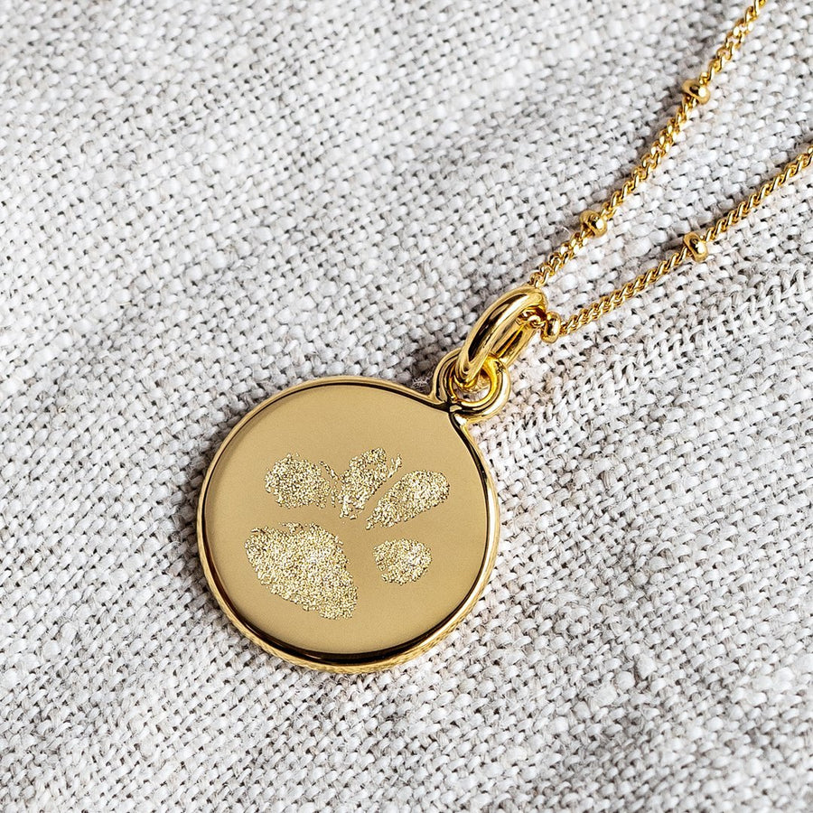 The Paw Print / Bobble Chain / 18k Gold Vermeil - Deja Marc Jewellery