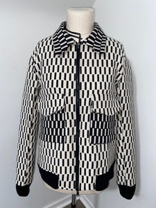 CHECKERED JACQUARD WORK JACKET