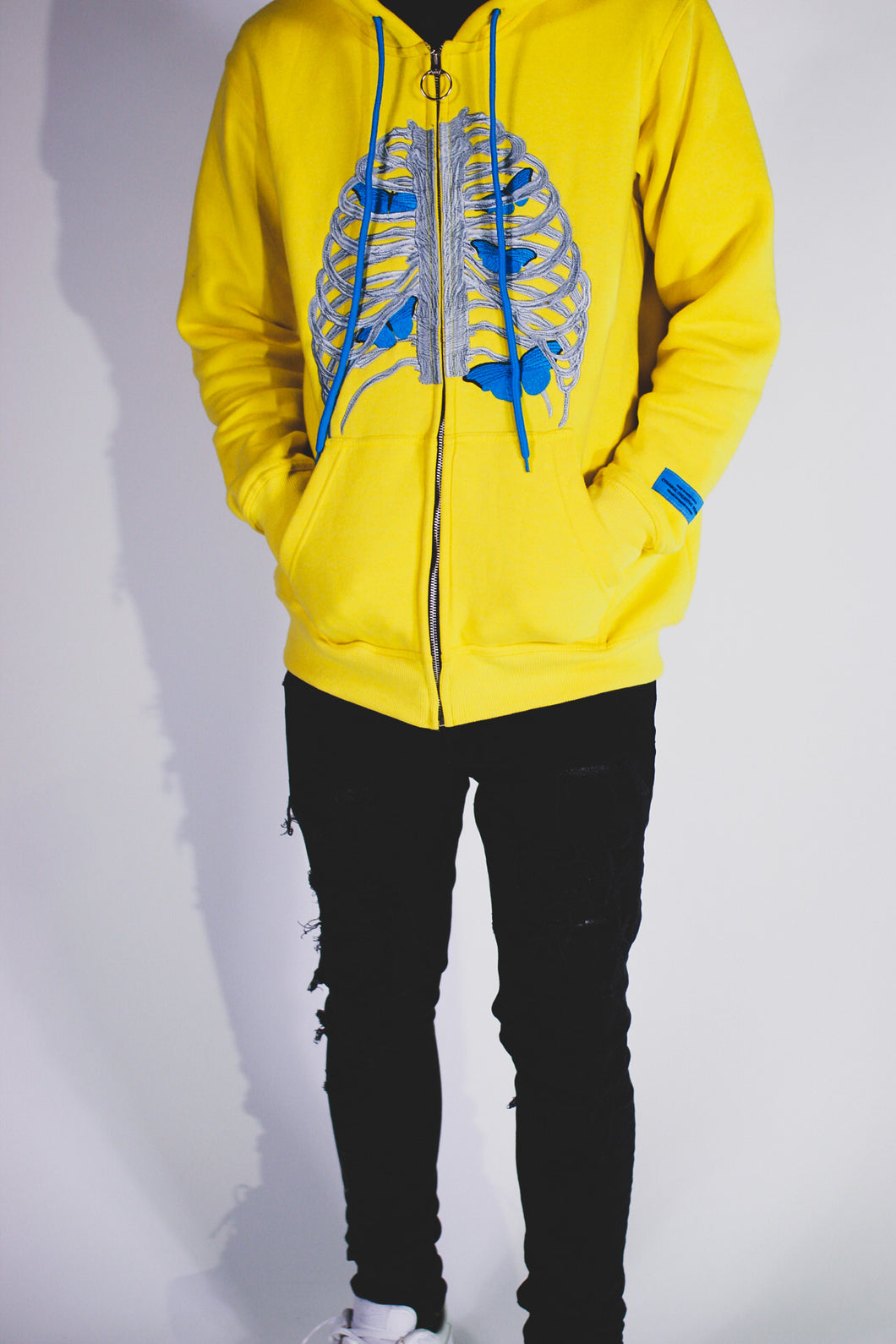 BUTTERFLY EFFECT ZIP UP (YELLOW)