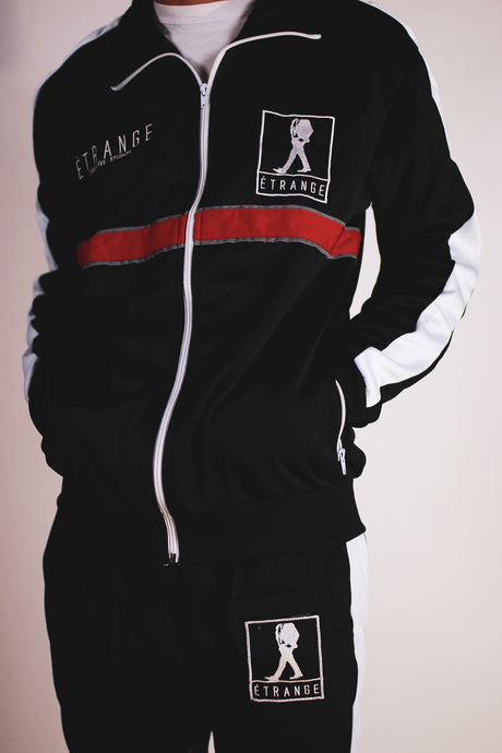 LOGO TRACK JACKET (BLACK)