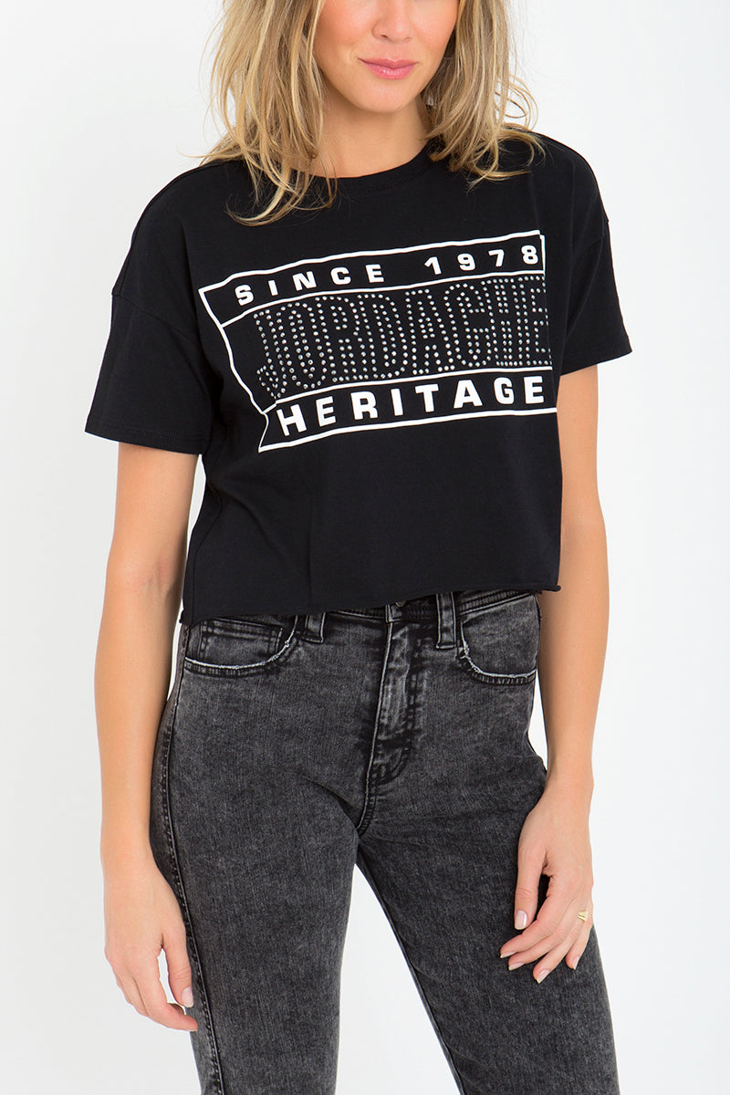 Kimberly Studded Crop Tee