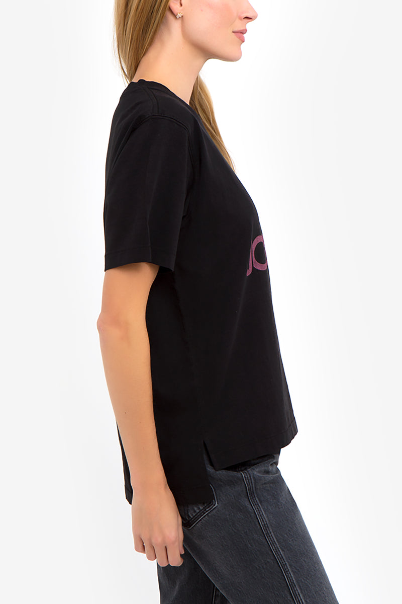 Burgundy Logo Oversized T-Shirt