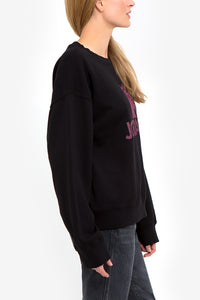 Burgundy Logo Oversized Sweatshirt