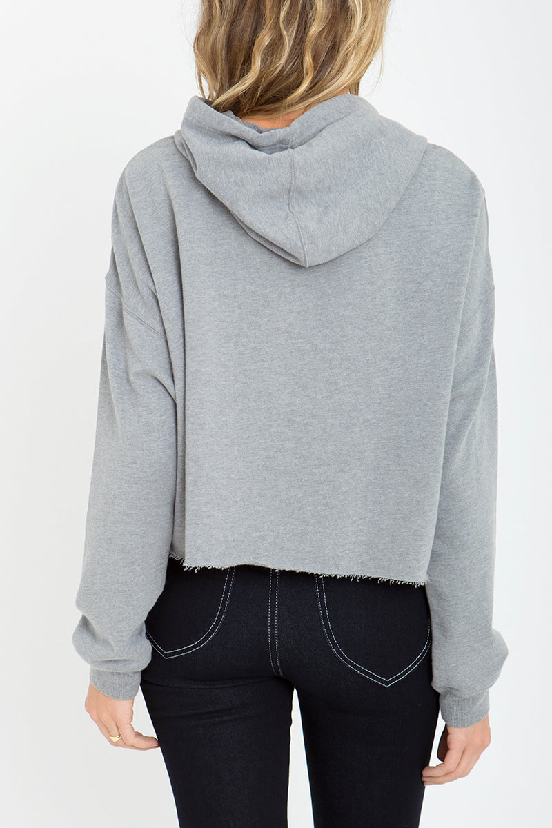 Kelly Cropped Studded Hoodie