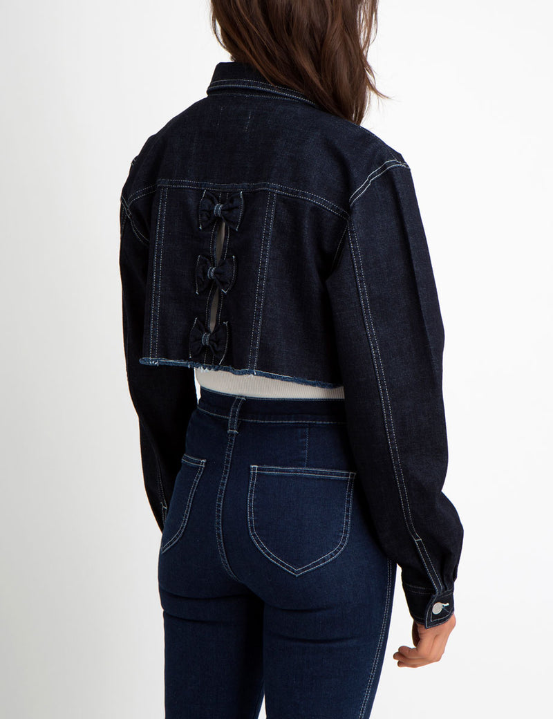 Bianca Cropped Bow Jacket