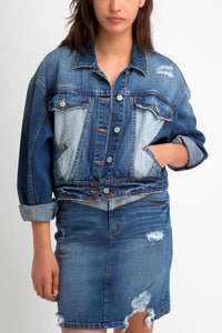 Suzanne Cotton Two-Tone Denim Jacket