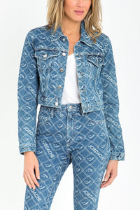 Signature Logo Jacquard Shrunken Jacket