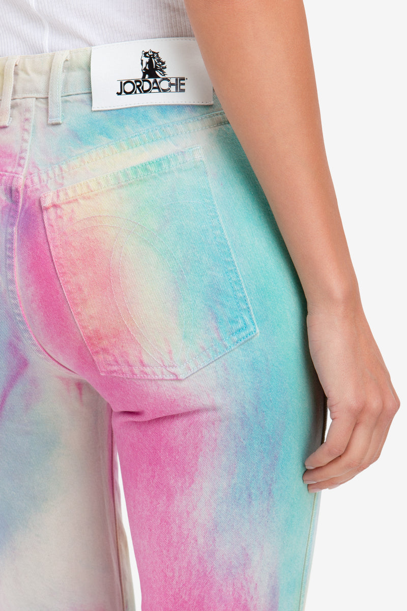 DIAGONAL RAINBOW HIGH RISE VINTAGE CROP