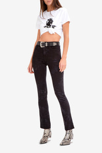 BLACK TIE DYE HIGH RISE SLIM