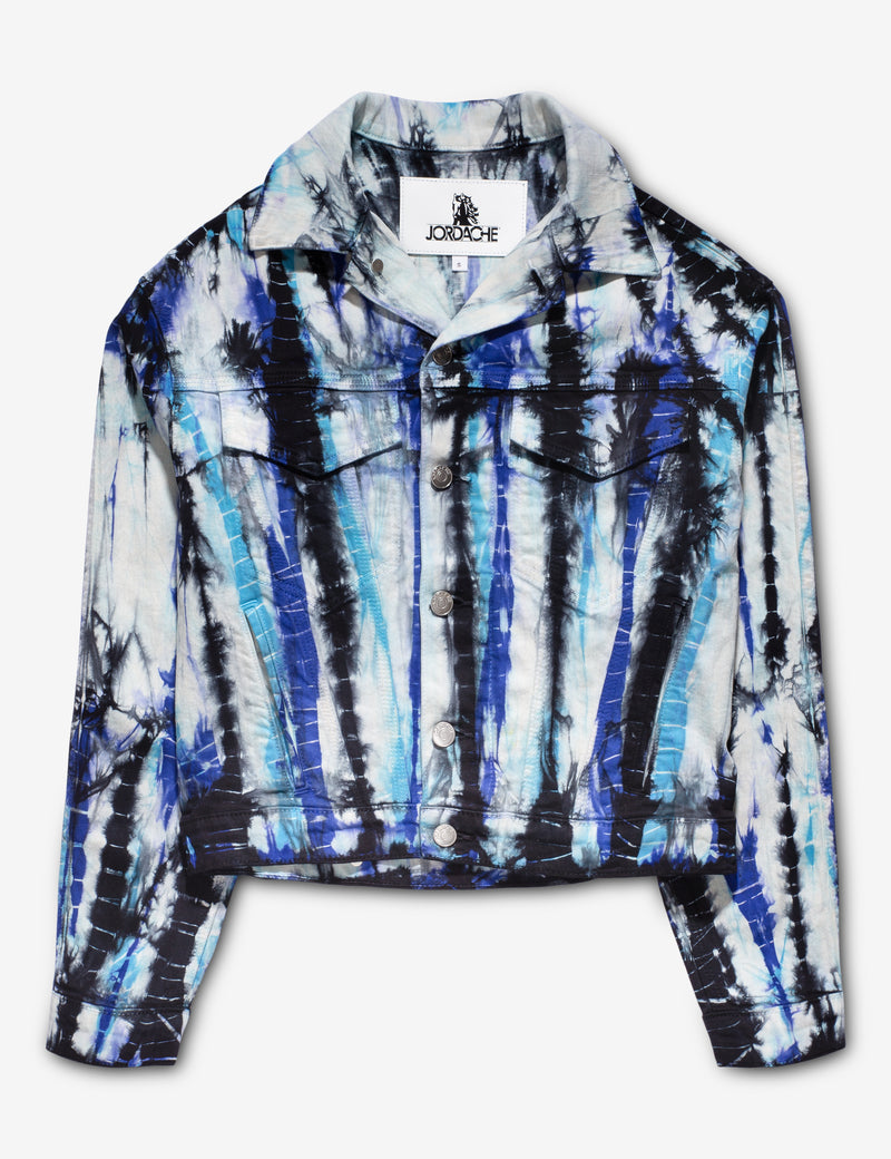 BLUE ANIMAL DYE OVERSIZED JACKET