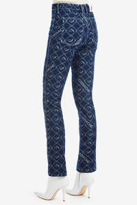 Signature Logo Jacquard High-Rise Slim