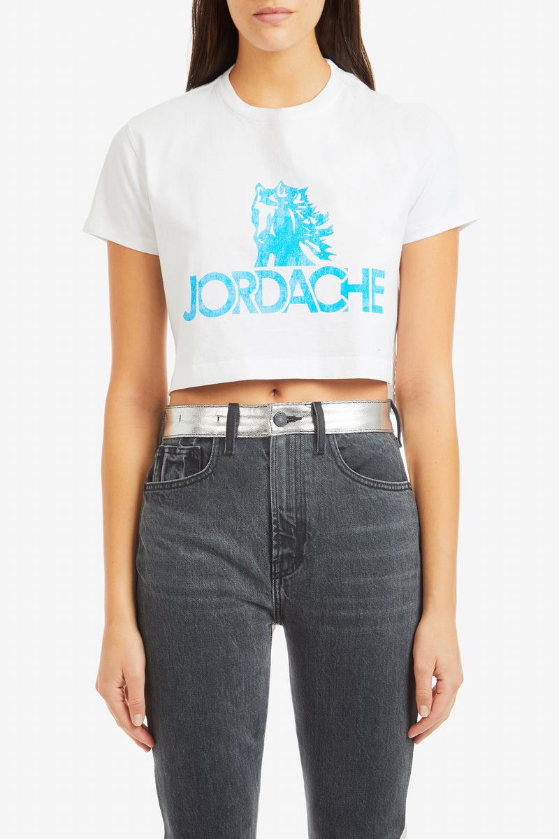 Blue Logo Cropped T-Shirt