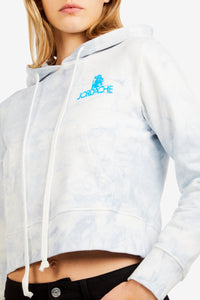 Blue Tie Dye Mini Logo Hooded Sweatshirt