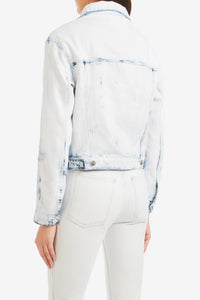 Indigo Zip Tie Cropped Jacket