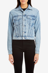 Light Vintage Cropped Jacket