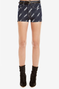 RINSE DIAGONAL LOGO PRINT HIGH-RISE SHORT