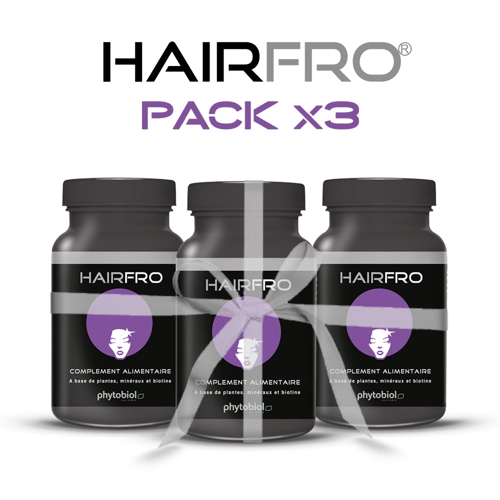 HairFro - Pack 3 Flacons 100 Capsules