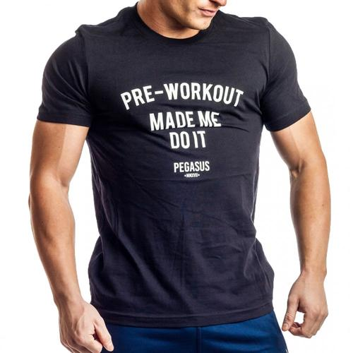 PRE-WORKOUT MADE ME DO IT T-Shirt Black | Pegasus Nation |