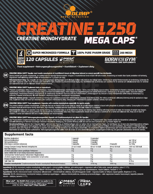 Olimp Creatine 1250 Mega Caps | Pre-workout Energy | Pegasus Nation
