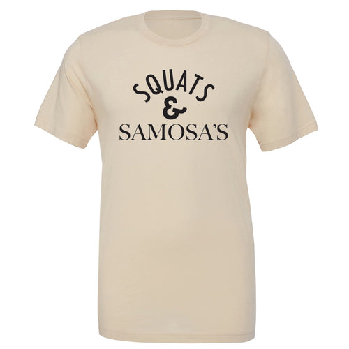 SQUATS AND SAMOSA'S T-SHIRT CREAM | SAMOSA T-SHIRT | PEGASUS NATION