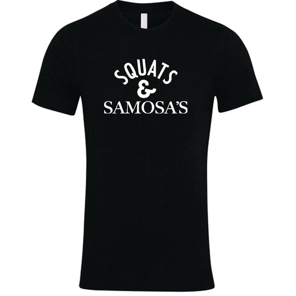 Squats and Samosa's T-Shirt Black | Squats T Shirt | Pegasus Nation