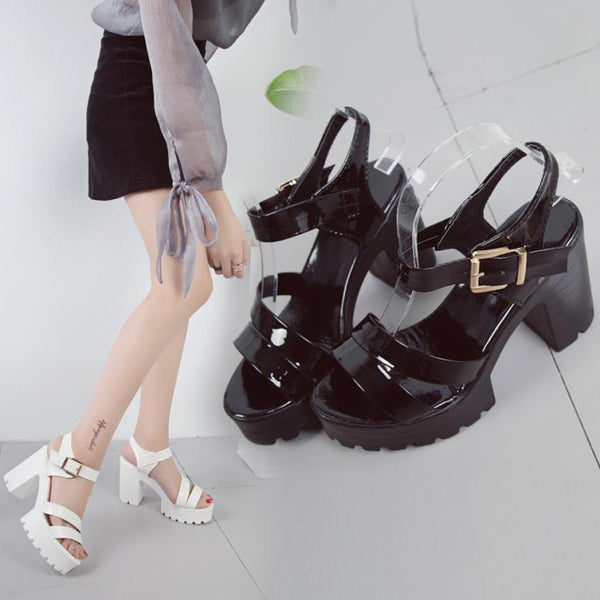 ... YOUYEDIAN shoes woman Fish Mouth Platform High Heels Wedges Sandals  Buckle Strap Sandals zapatos mujer big ... ab3ba378c0c2