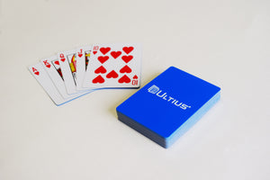 Ultius deck of cards and royal flush