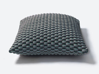 Super soft and durable pouf handmade from silicone cord suitable for both indoor and outdoor.