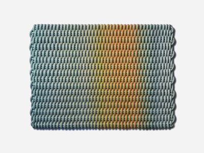 Ergonomic Shore Rug handmade from durable silicone cord suitable for both indoor and outdoor.