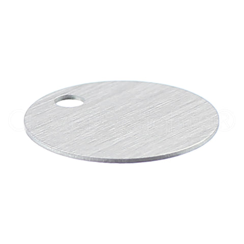 "3/4"" Raw Aluminum Stamping Blanks - 3mm Hole - 22 Gauge"