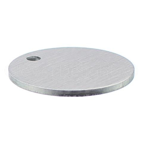 "1"" Raw Aluminum Stamping Blanks - 3mm Hole - 14 Gauge"
