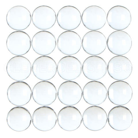 "12mm (1/2"") Round Glass Cabochons"