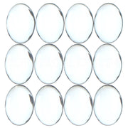 13x18mm Oval Glass Cabochons