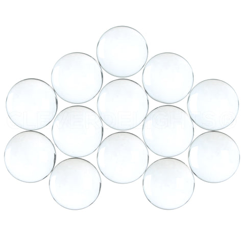 "16mm (5/8"") Round Glass Cabochons"
